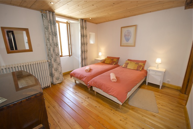 typical chalet bedroom